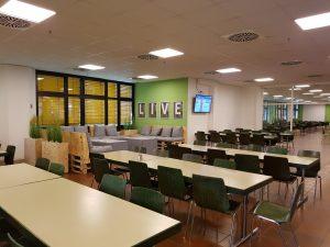 Unsere neue Lounge in der Kantine in unserem Logistikzentrum Altgefäll